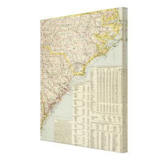 North Carolina and South Carolina Canvas Print