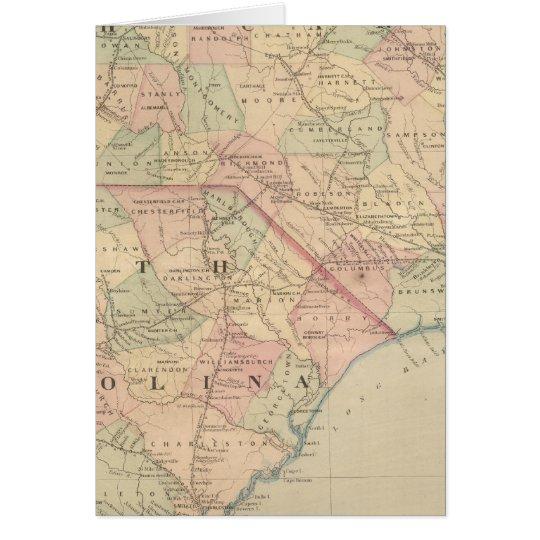 North Carolina and South Carolina Card