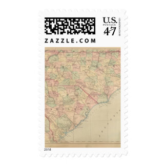 North Carolina and South Carolina Postage Stamp