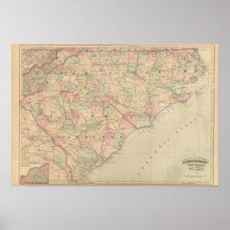 North Carolina and South Carolina Poster