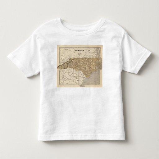 North Carolina Atlas Map T Shirt
