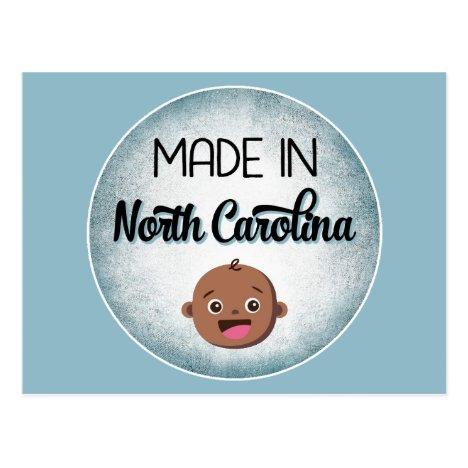 North Carolina Baby Funny Blue African American Bl Postcard