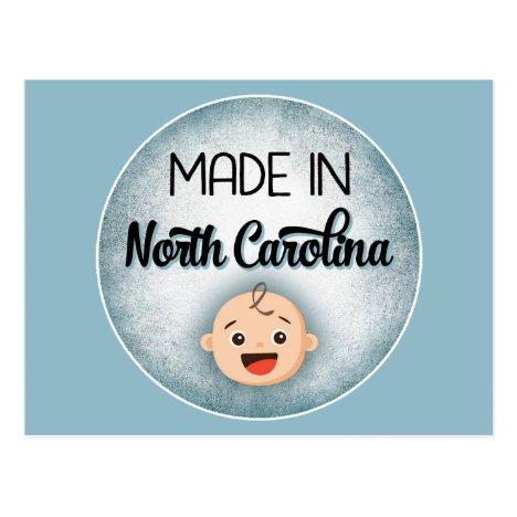 North Carolina Baby Funny Blue New Boy Postcard