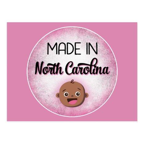 North Carolina Baby Funny Pink African American Bl Postcard