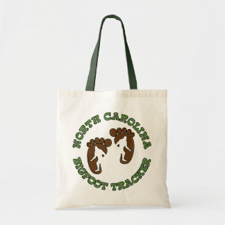 North Carolina Bigfoot Tracker Canvas Bags