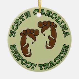 North Carolina Bigfoot Tracker Ceramic Ornament
