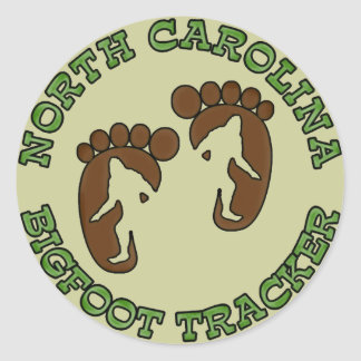 North Carolina Bigfoot Tracker Classic Round Sticker