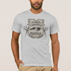 Men's Basic American Apparel T-Shirt with North Carolina Birder design