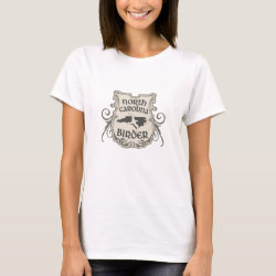 Women's Basic T-Shirt with North Carolina Birder design