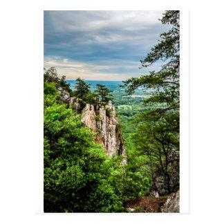 north carolina blue ridge barkway mountains postcard