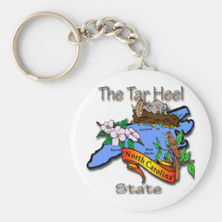 North Carolina Blue The Tar Heel State BirdFlower Keychains
