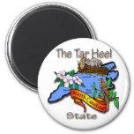 North Carolina Blue The Tar Heel State BirdFlower Fridge Magnet