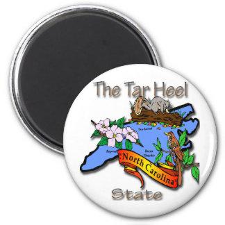 North Carolina Blue The Tar Heel State BirdFlower Magnet