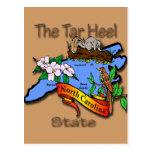 North Carolina Blue The Tar Heel State BirdFlower Post Cards