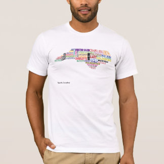 North Carolina City Map T-Shirt