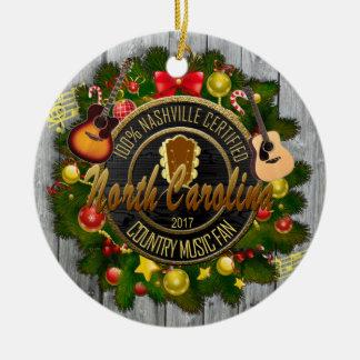 North Carolina Country Music Fan Ornament