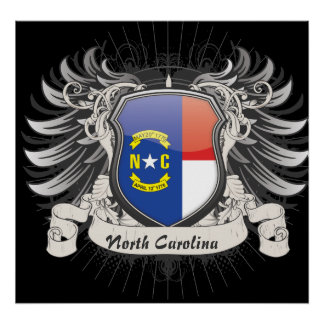 North Carolina Crest Poster