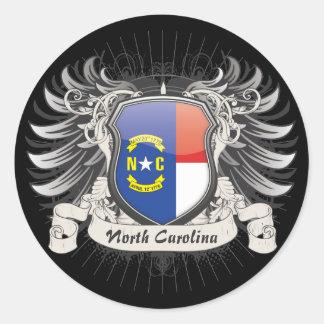 North Carolina Crest Classic Round Sticker