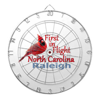 NORTH CAROLINA DARTBOARD WITH DARTS