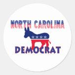 North Carolina Democrat Classic Round Sticker
