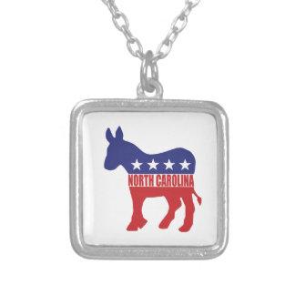 North Carolina Democrat Donkey Necklace