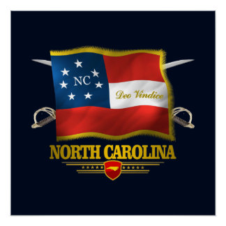 North Carolina -Deo Vindice Poster