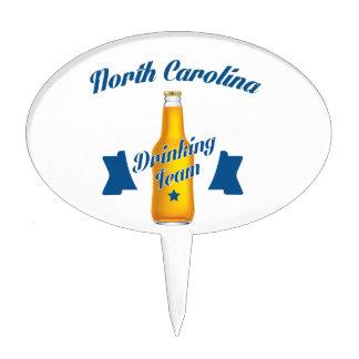 North Carolina Drinking team Cake Topper