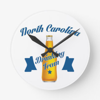 North Carolina Drinking team Round Clock
