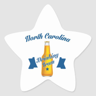 North Carolina Drinking team Star Sticker
