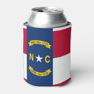 North Carolina flag, American state flag Can Cooler