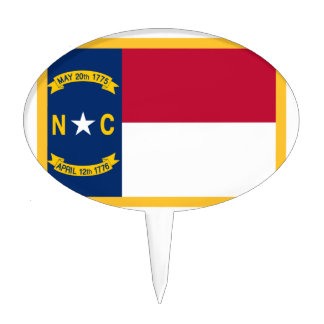 North Carolina Flag Cake Topper
