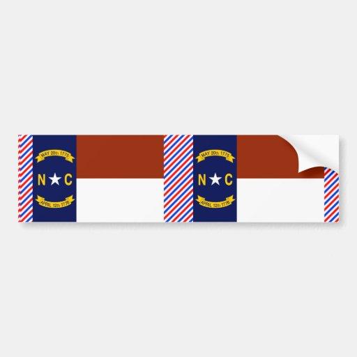 North Carolina Flag Car Bumper Sticker