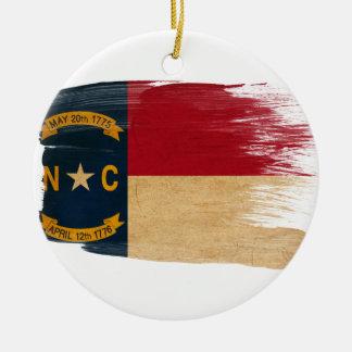 North Carolina Flag Ceramic Ornament