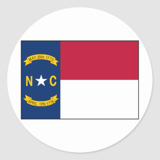 North Carolina Flag Classic Round Sticker