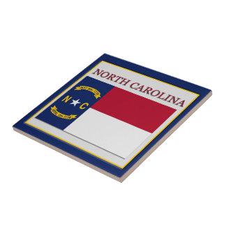 North Carolina Flag Design Tile