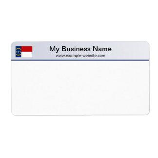North Carolina Flag Header Shipping Label
