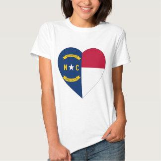 North Carolina Flag Heart Tees