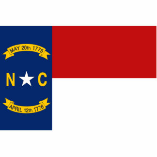 North Carolina Flag Keychain Cut Out
