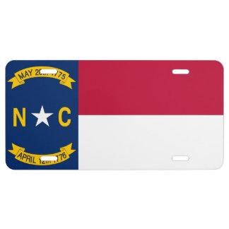 North Carolina Flag License Plate