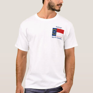 North Carolina Flag Map City T-Shirt