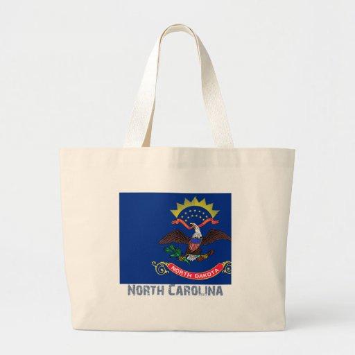 North Carolina Flag Map Jumbo Tote Bag