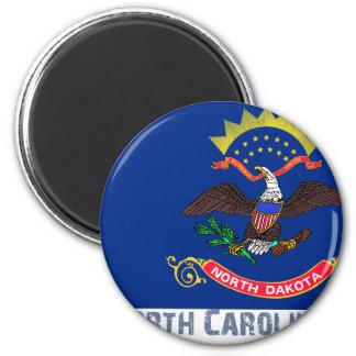 North Carolina Flag Map Magnet