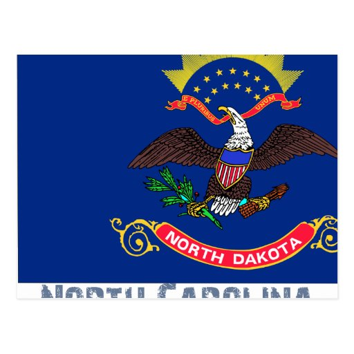 North Carolina Flag Map Postcard