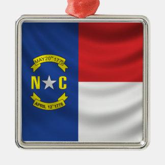 North Carolina Flag Metal Ornament