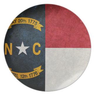 North Carolina Flag Party Plate