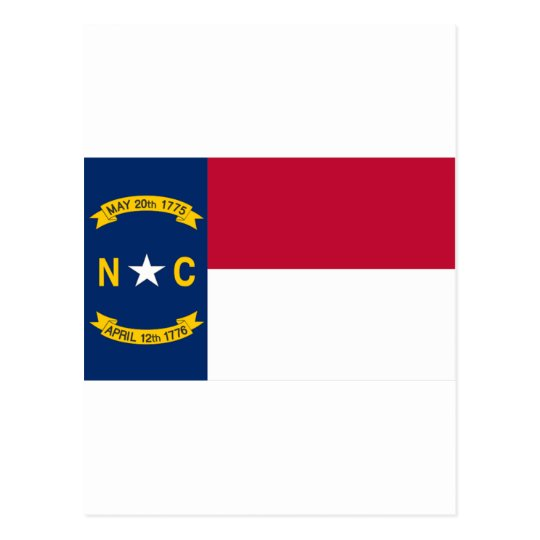 North Carolina Flag Postcard