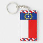 NORTH CAROLINA Flag Single-Sided Rectangular Acrylic Keychain