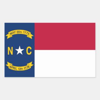 North Carolina Flag Rectangle Sticker