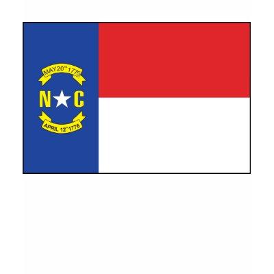 North Carolina Flag T-shirt by FlagTshirts
