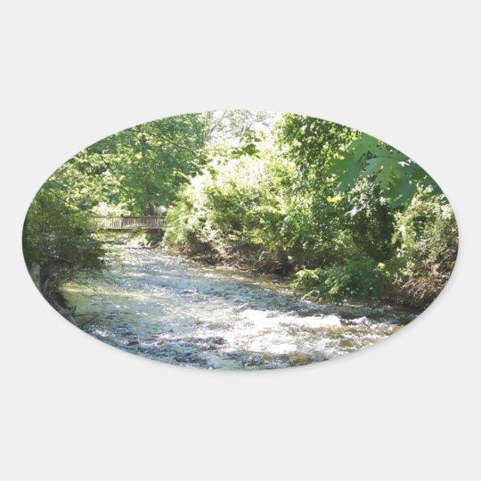 North Carolina Flowing Stream Oval Sticker